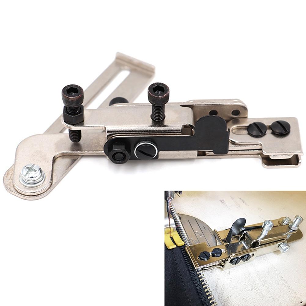 Calibrador de cremallera ajustable, máquina plana Industrial, calibrador de cremallera, herramienta de fijación de línea de alféizar sincrónico, herramienta de artefacto para máquina de coser