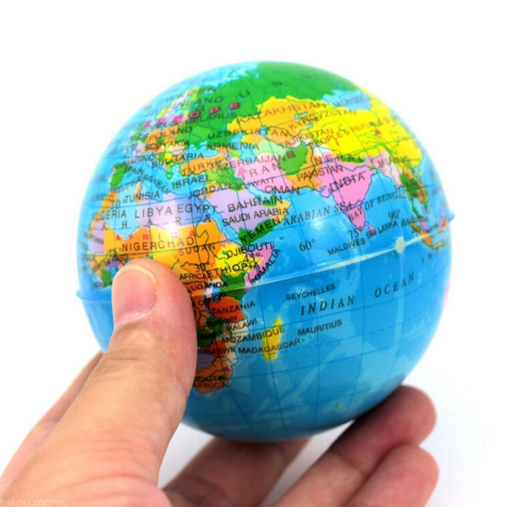 Inflatable Globe World Earth Ocean Map Ball Geography Learning Educational Beach Kids Toy Home Office Decoration