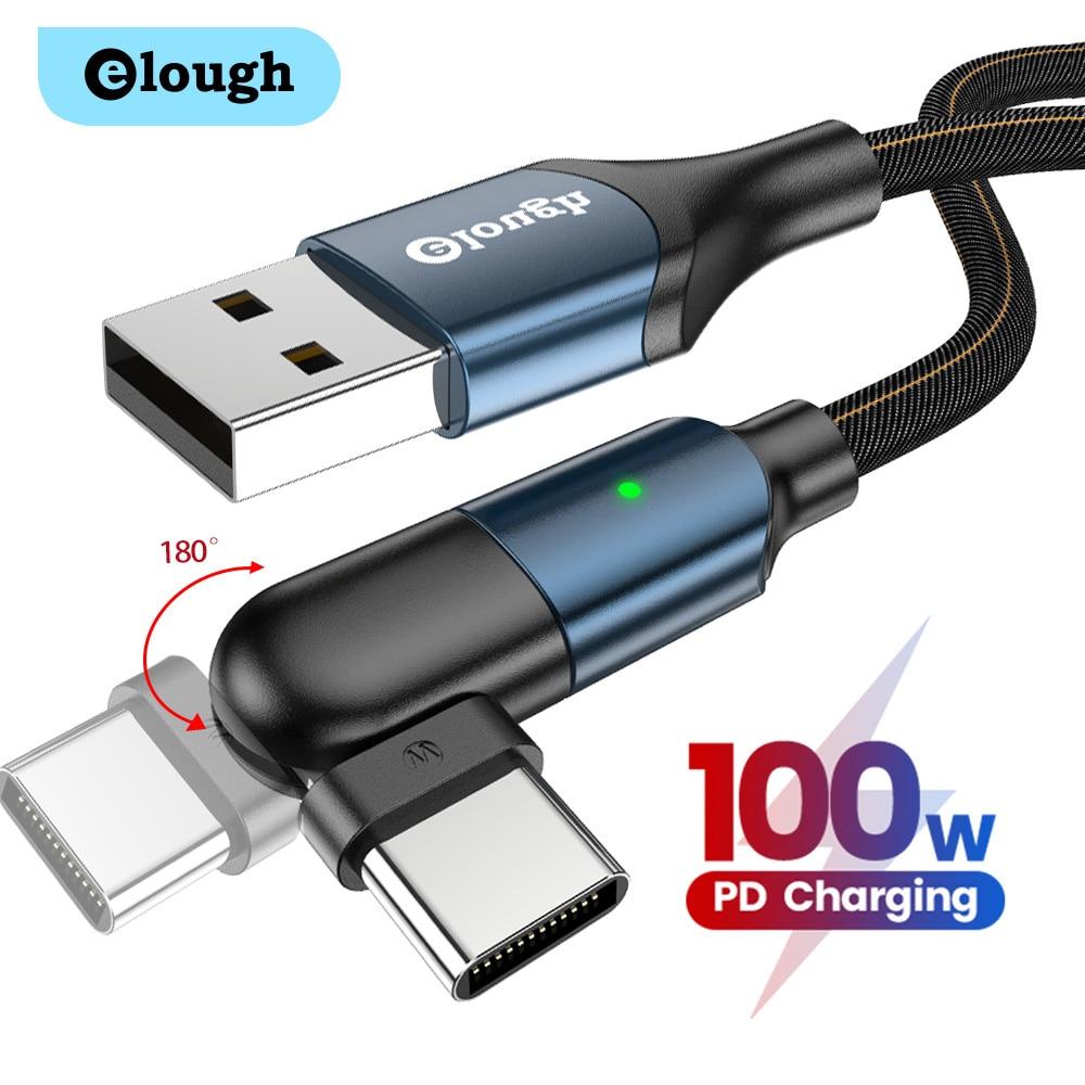 Elough-Cable USB tipo C 3A, Cable magnético, Micro USB, cargador para iPhone...
