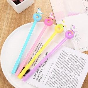 20 штук мультфильм гелевая ручка с единорогом креативные Канцтовары пончик пони студент экспертизы гелевые ручки оптом