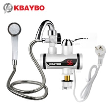 KBAYBO 3000W electric water heater Temperature Display faucet for kitchen Instant Hot Water Tap Fauc