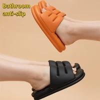 bathroom mute eva sofa slides women thick sole soft indoor slippers women anti slip sandals men summer platform women shoes