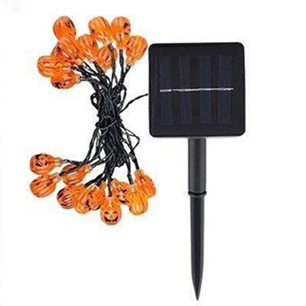 LED Halloween Pumpkin String Lights 3D Halloween Lantern Party Home DIY Decor Warm White Battery Operated Light
