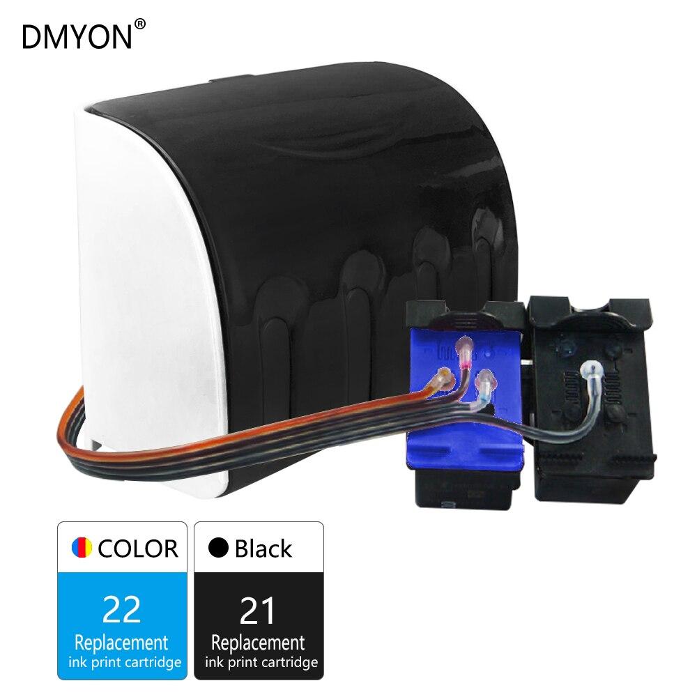 DMYON 21XL 22XL Ciss tinta a granel repuesto para Hp 21 22 para Deskjet serie F2180 F2200 F2280 F4180 F300 F380 380 D2300 D2345 impresora