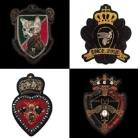 crown hardware embroidery beaded bee badge denim clothes pants patches used for clothing bags shoes decal armband patch xbt9396