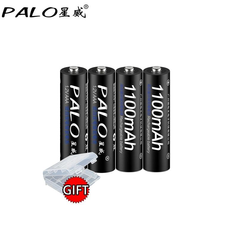 Аккумуляторная батарея PALO AAA, 4 шт., никель-металлогидридная батарея 1100 мАч, низкоразряжаемая AAA аккумуляторная батарея 3a для микрофона