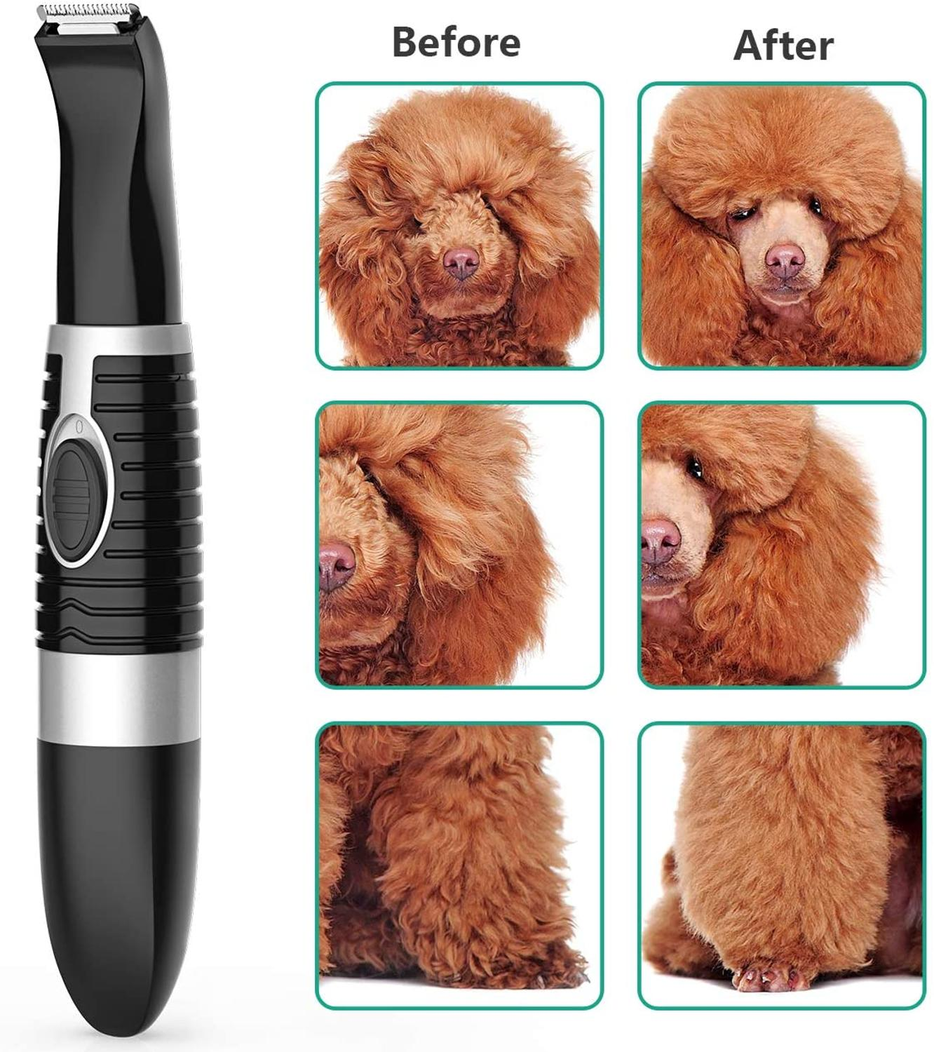 Kemei Cordless Cat and Small Dogs Clipper Low Noise Electric Pet Trimmer Grooming for Trimming the Hair Around Paws Eye Ear Rump enlarge