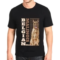 o neck print belgian malinois dog short sleeved daily top mens custom made fashion new t shirt