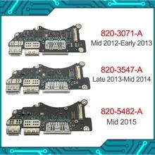 """Оригинальный кардридер I/O USB SD, плата 820 3071 A 820 3547 A 820 5482 A для Macbook Pro Retina 15 """"A1398 2012 2013 2014 2015"""