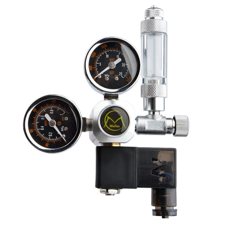 مجموعة Solenoid لتنظيم الـ CO2 الخاضة بالـ DIY Aquarium, فحص الصمام ، خزان الأسماك ، الملحقات ، مجموعة مولدات ، مفاعل نظام التحكم في ثاني أكسيد الكربون