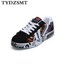 TYDZSMT 2020 Sommer Frau Turnschuhe Weiß Casual Schuhe Liebhaber Druck Mode Flache Damen Vulkanisierte Schuhe zapatos de mujer