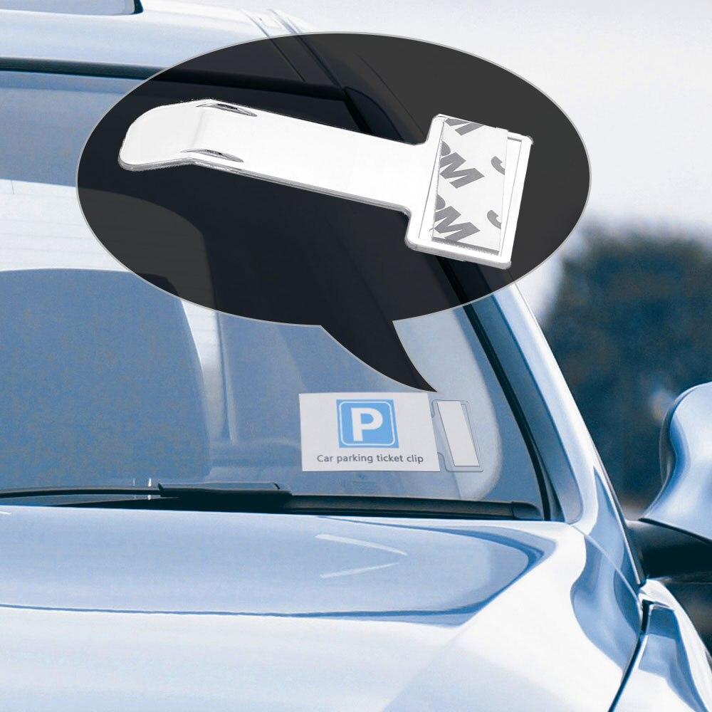 1 unidad para coche, vehículo para tique de estacionamiento, soporte para permiso, Clip, pegatina para parabrisas, Kit de pegatinas para ventana, accesorios para coche