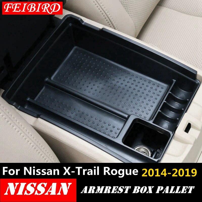 Для Nissan X-Trail X Trail T32 Rogue 2014-2019 черная центральная консоль многофункциональная коробка для хранения поднос для телефона аксессуар