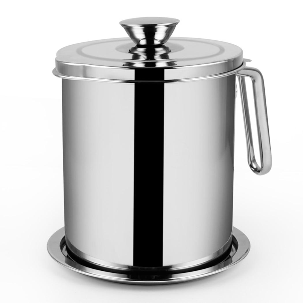 1100 مللي متعددة الوظائف 304 الفولاذ المقاوم للصدأ المرق النفط الحساء الدهون فاصل الشحوم مصفاة الفلتر وعاء المطبخ أدوات الطبخ