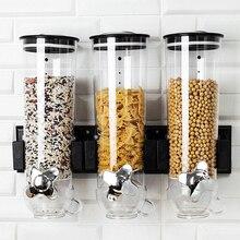 Barils Machine à céréales conteneurs de stockage de cuisine distributeur de grains ronds réservoir de stockage davoine conteneur de stockage de nourriture en libre-service