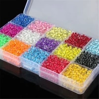 500 colored core glass crystal spacers seed spacer beads for diy jewelry making 4mm3 2mm