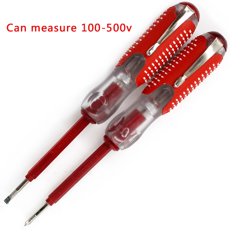 100-500 В тестовая ручка многофункциональная отвертка прочная изоляция электрик домашний инструмент тест карандаш Электрический тест er