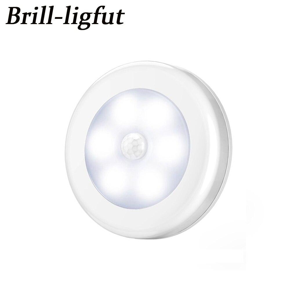 Умный датчик движения тела 6 светодиодный ночной Светильник беспроводной детектор прихожей тропинка шкаф настенный светильник с магнитом Авто Вкл/Выкл