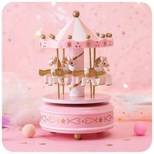 Wind Up Carousel Toy Clockwork Toy Carousel Music Box Party Birthday Toy Christmas Gift For Children