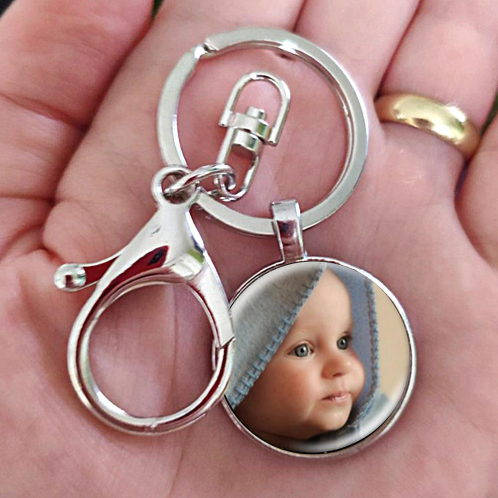 Фотоподвеска FLTMRH на заказ, брелок для ключей, фото вашего ребенка, мамы, папы, дедушки и родителей, подарок для семьи