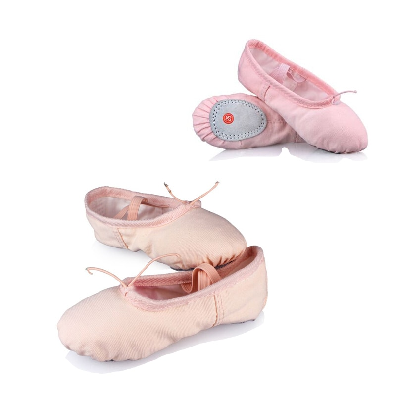 Professional Child Girls Kids Cotton Canvas Soft  Ballet Dance Practice Shoes Gym балетки Ballet Slippers