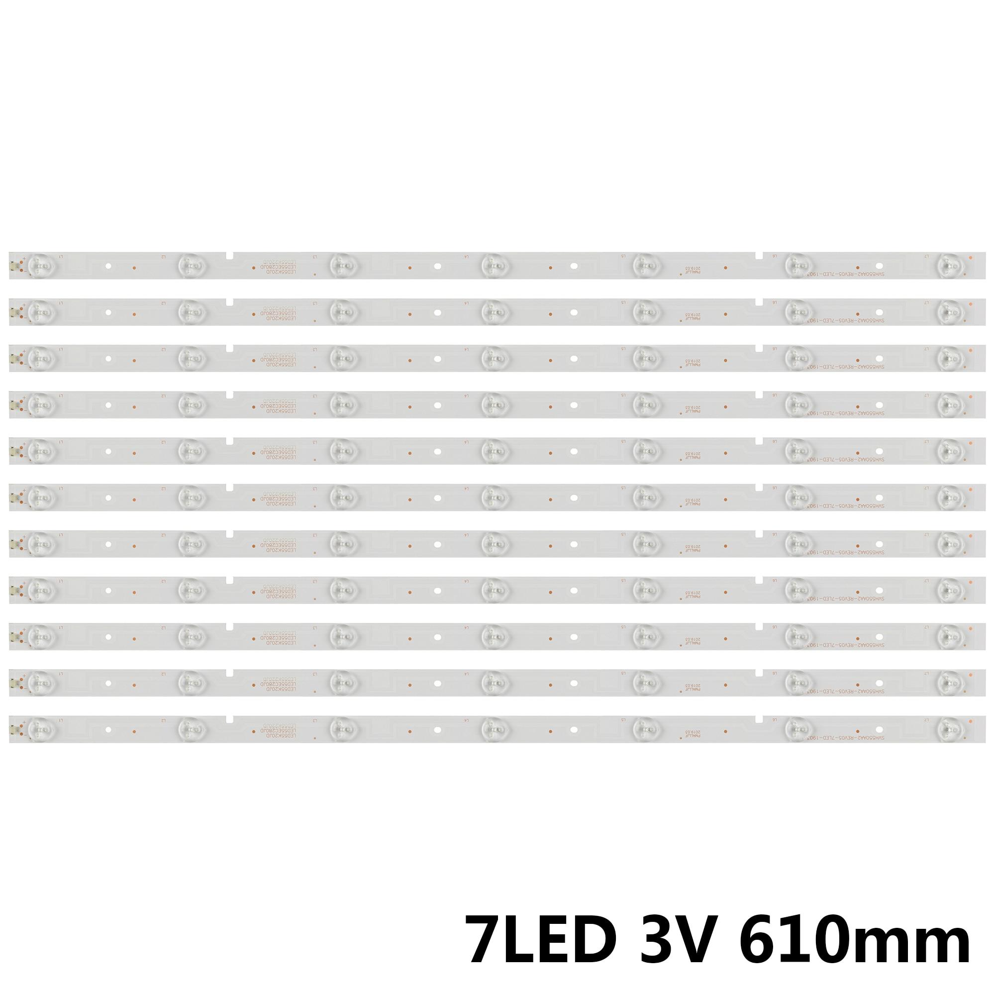 LED الخلفية شرائط ل شارة 55 التلفزيون NS-55D550NA15 55K20DG 55K23DG HD550DF B57 SVH550AA2 REV05 7LED 130719 55K23D9W SVH500AB1