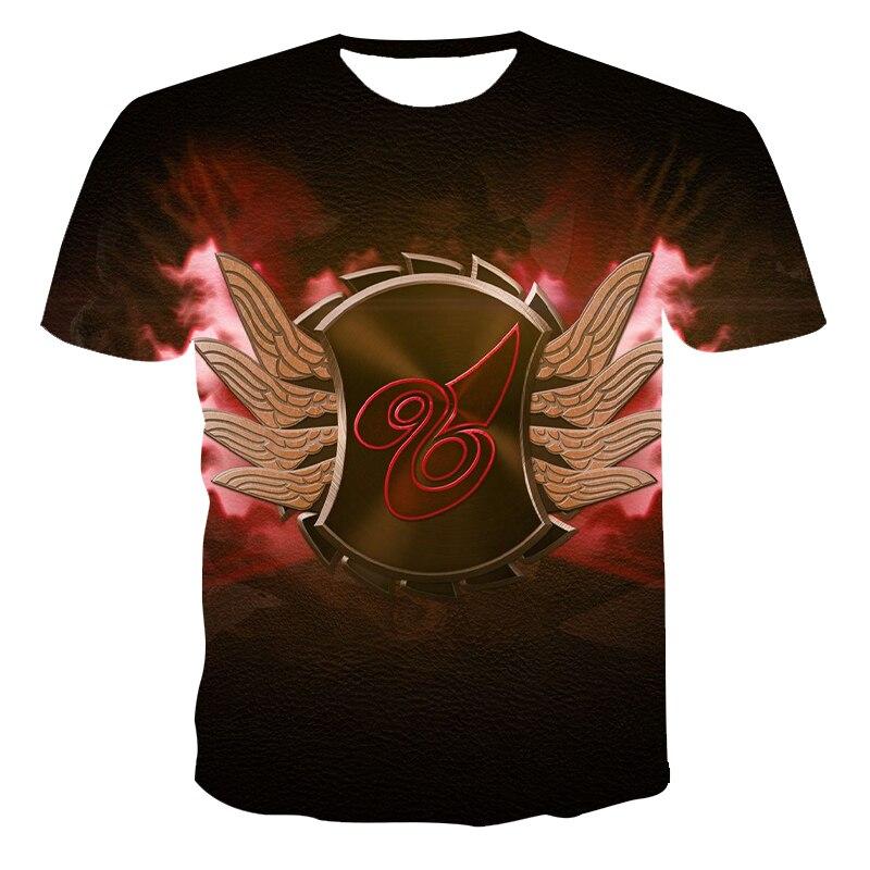 2021 new summer 3D printing T-shirt passionate mens short-sleeved casual cool cartoon fashion top 110-6XL