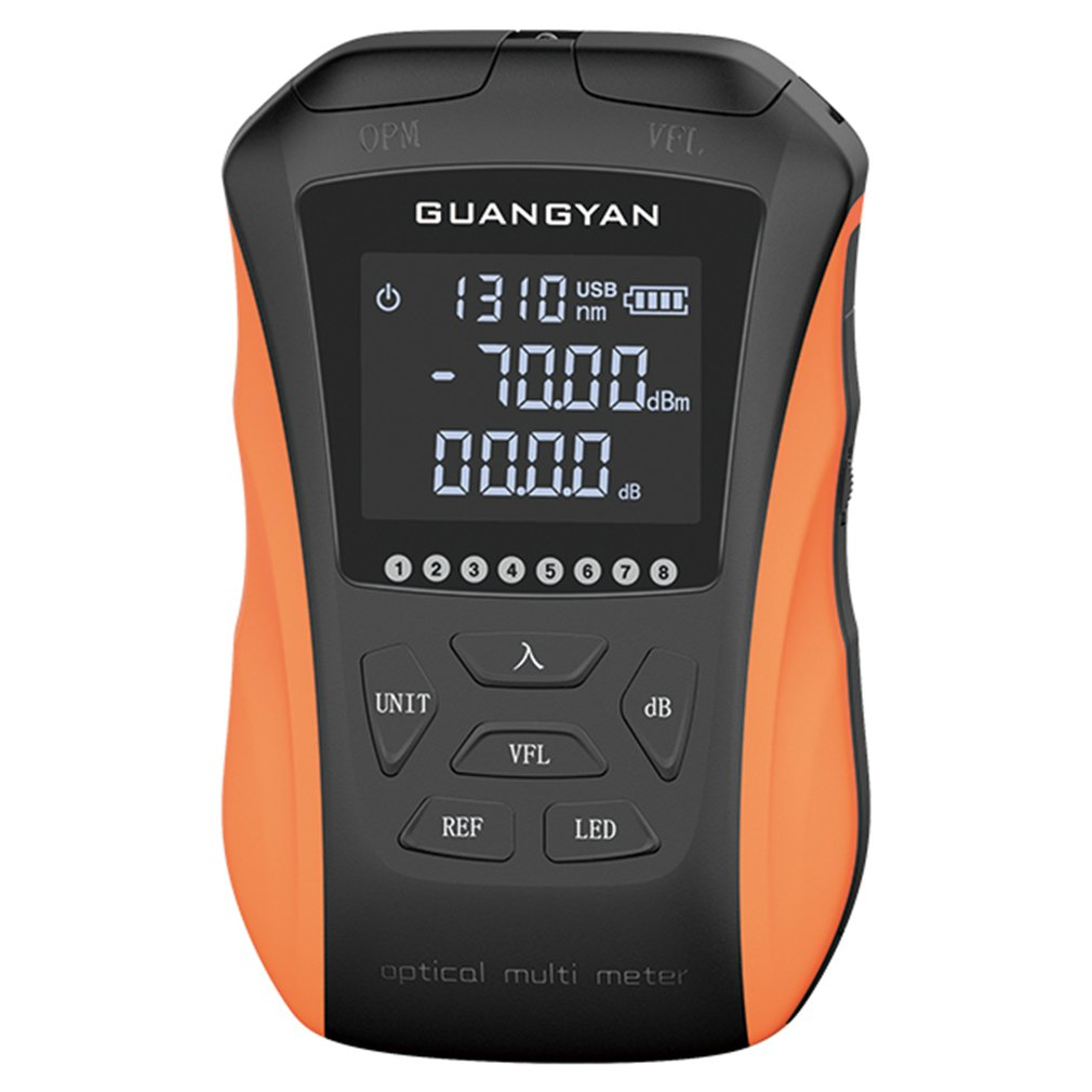 G8-SGS112 Rechargeable Optical Power Meter Red Light Machine 15km -50+26/-70+10 Frequency Identification Seven Wavelengths
