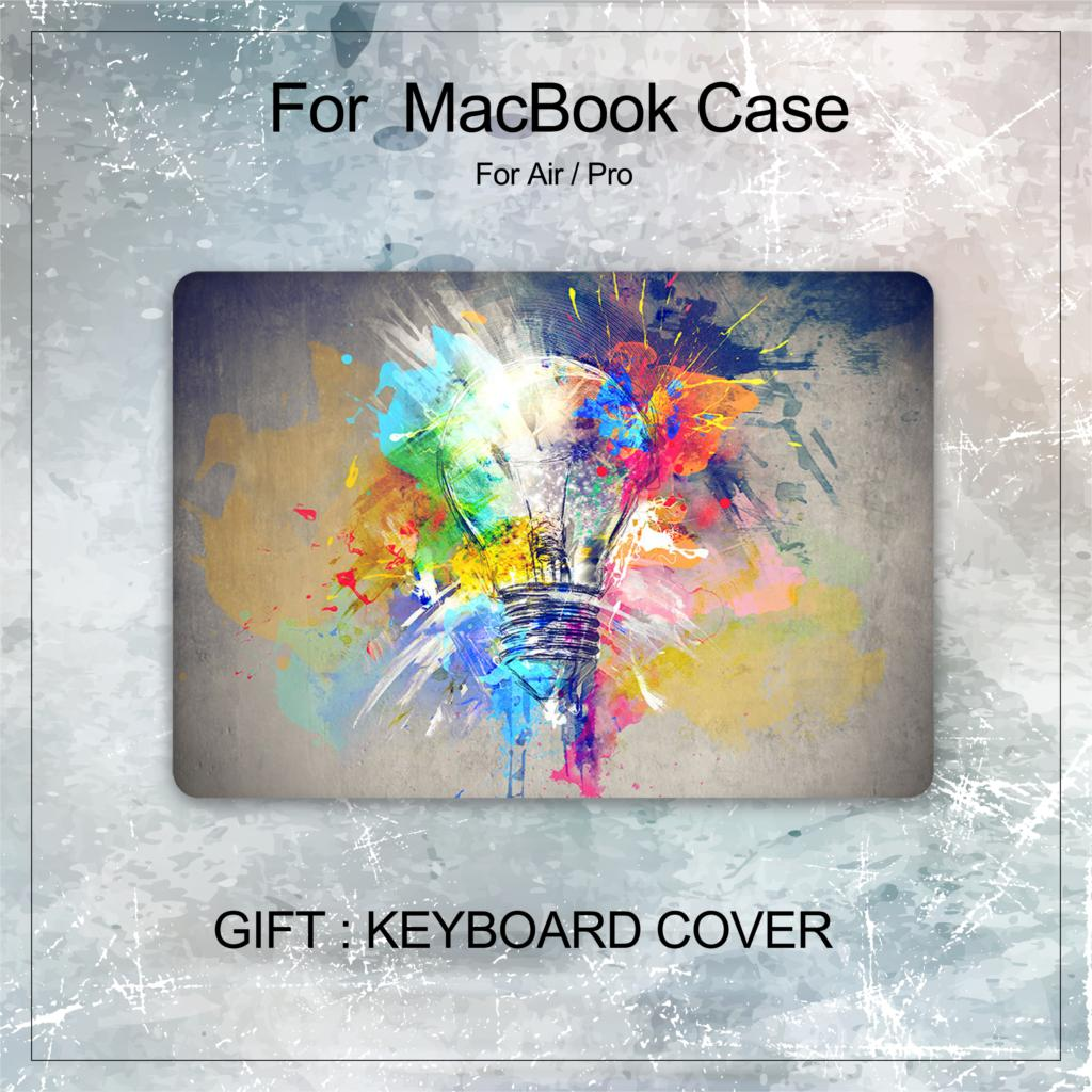 3D чехол для ноутбука MacBook Air Pro retina 11 12 13 13,3 15 Новый сенсорный экран A2159 для macbook Touch ID Air 13 A1932 + чехол для клавиатуры