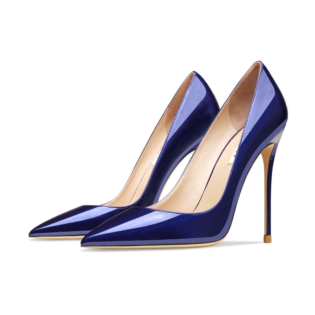 Туфли-лодочки женские из натуральной кожи, классические модные офисные туфли на шпильке, заостренный носок, пикантные вечерние туфли на выс...