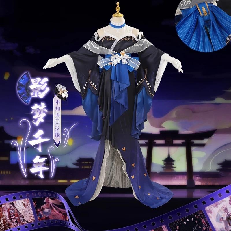 أنيمي لعبة Onmyoji SSR Shiranui yingmengqianian الجلد فستان اليومية كيمونو تأثيري حلي النساء هالوين شحن مجاني 2021New
