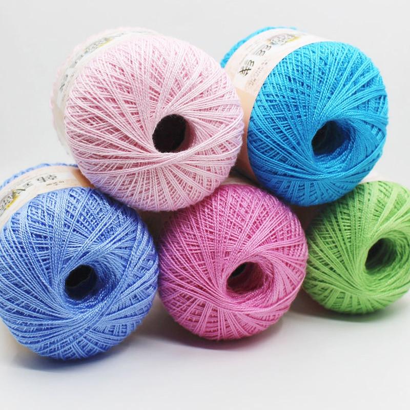 1ball = 50g Spitze Garn Baumwolle Dünne Garn für Häkeln Gewinde für Hand Stricken Garn Maschine Stricken Häkeln themen
