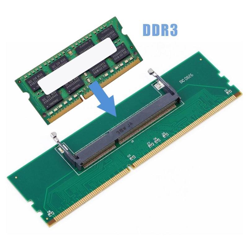 DDR3 Notebook Memory to Desktop Memory Connector Adapter Card 200 Pin SO-DIMM to Desktop 240 Pin DIM