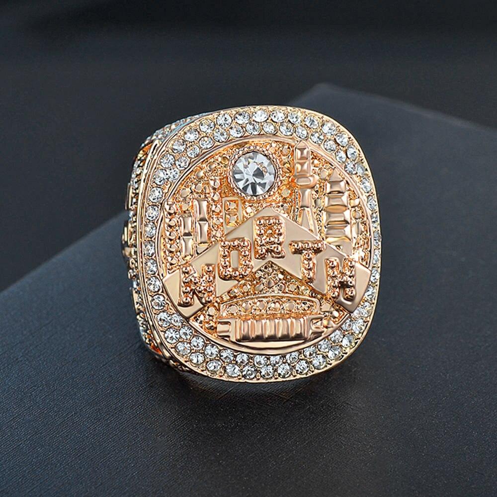 Мужское Золотое кольцо из нержавеющей стали, 2019 кольцо в стиле хип-хоп, панк, кольцо с кристаллами циркония, баскетбольное кольцо