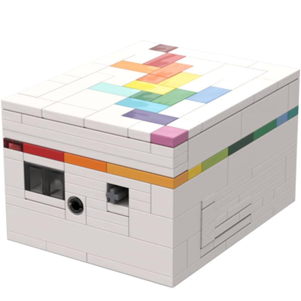 Moc-rainbow road (uma caixa de quebra-cabeça) diy moc bloco tijolos caixa de tesouro 233 pçs blocos de construção de tijolos brinquedos educativos crianças