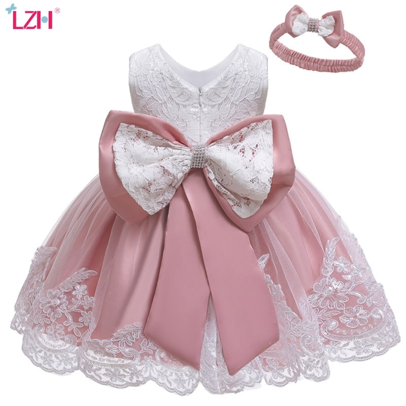 LZH Baby Girls Dress Newborn Princess Dresses For Baby first 1st Year Birthday Dress Easter Carnival