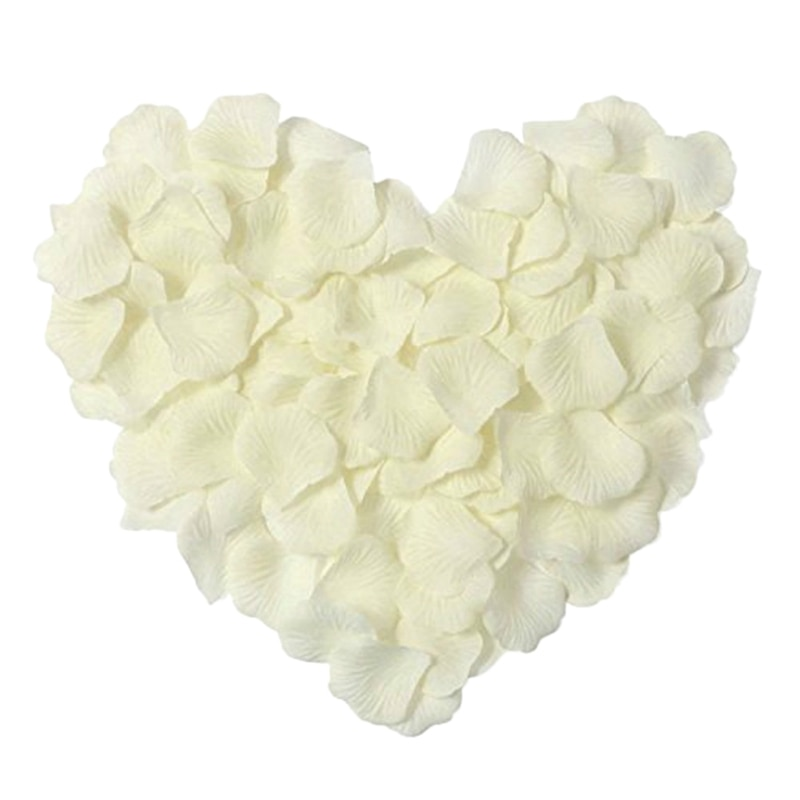 100 Pcs/Set Silk Rose Petals Artificial Rose Flower Petal for Wedding Party Home Hotel Valentine's Day Decoration, White