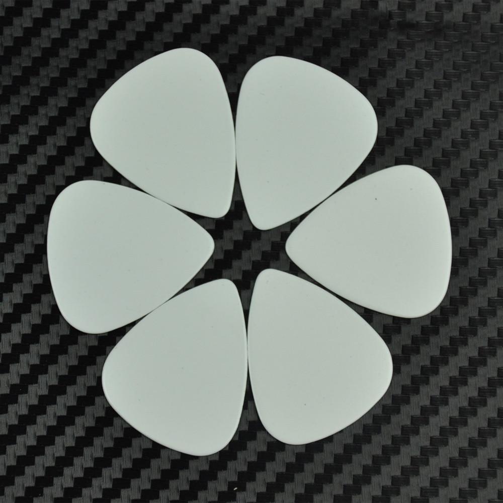 Wholesale 1000pcs Medium 0.71mm Blank Guitar Picks Plectrums Celluloid Solid White enlarge