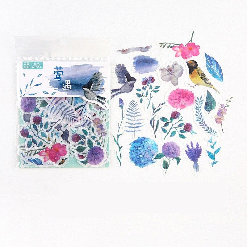 40 шт./упак. Иволга, птица, цветы, фотография, украшение для учетной записи