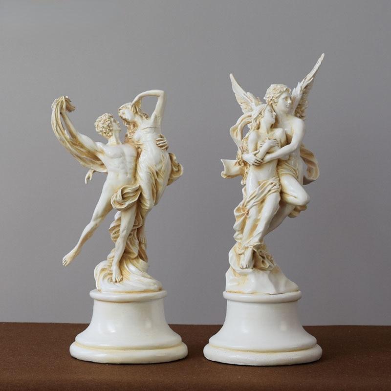 Фото - Creative Greek Mythology God Love Wings Angel Creative Sculpture European Decoration Living Room Bookcase Sculpture Ornaments mark d fullerton greek sculpture