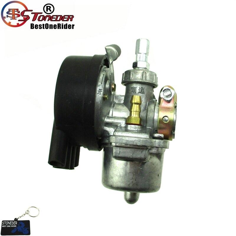 Carburador STONEDER 19mm carburador para 2 tiempos 50cc 60cc 80cc motor motorizado bicicleta de empuje