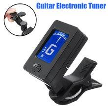 Accordeur de guitare électrique Mini écran LCD numérique accordeurs électriques clipsables pour guitare basse violon ukulélé accessoire accordeur électronique