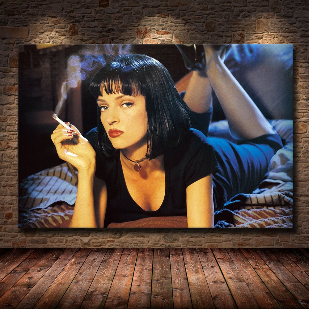 pulp-fiction-wall-art-classic-movie-quentin-tarantino-vintage-art-painting-funny-canvas-poster-cuadros-wall-home-decor