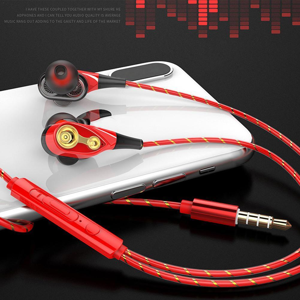 1pcs New Hifi Devices Earbuds Bass Earphone For  DJ Mp3 Phone Gaming In Ear Headphones Sport Headset Earphones With Microphone