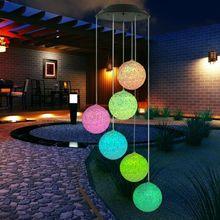 Créatif solaire LED à couleur changeante colibri vent carillons lumière lampe étanche vent carillons maison jardin suspendus fête décor