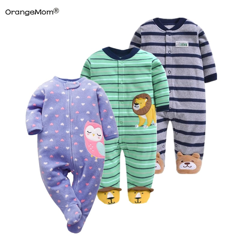 Orangemom anime home love Newborn baby boys spring baby Romper girl romper Infant fleece Jumpsuit for kids new born baby clothes
