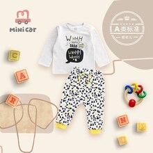 Car children's wear children's two-piece suit baby T-shirt warm suit baby clothes boy