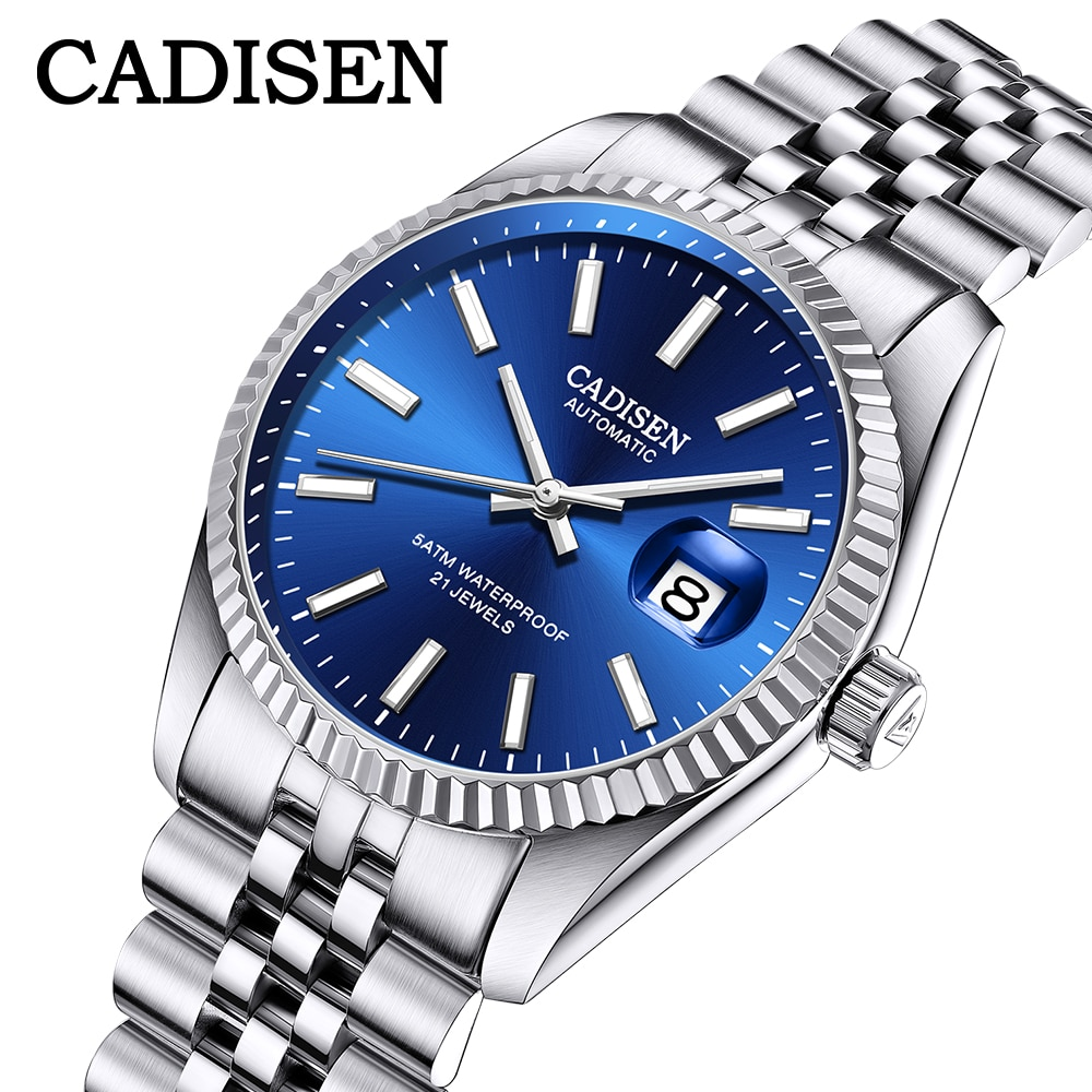 CADISEN Men Mechanical Watch Top Brand Luxury Automatic Watch Business Stainless Steel Waterproof Wa