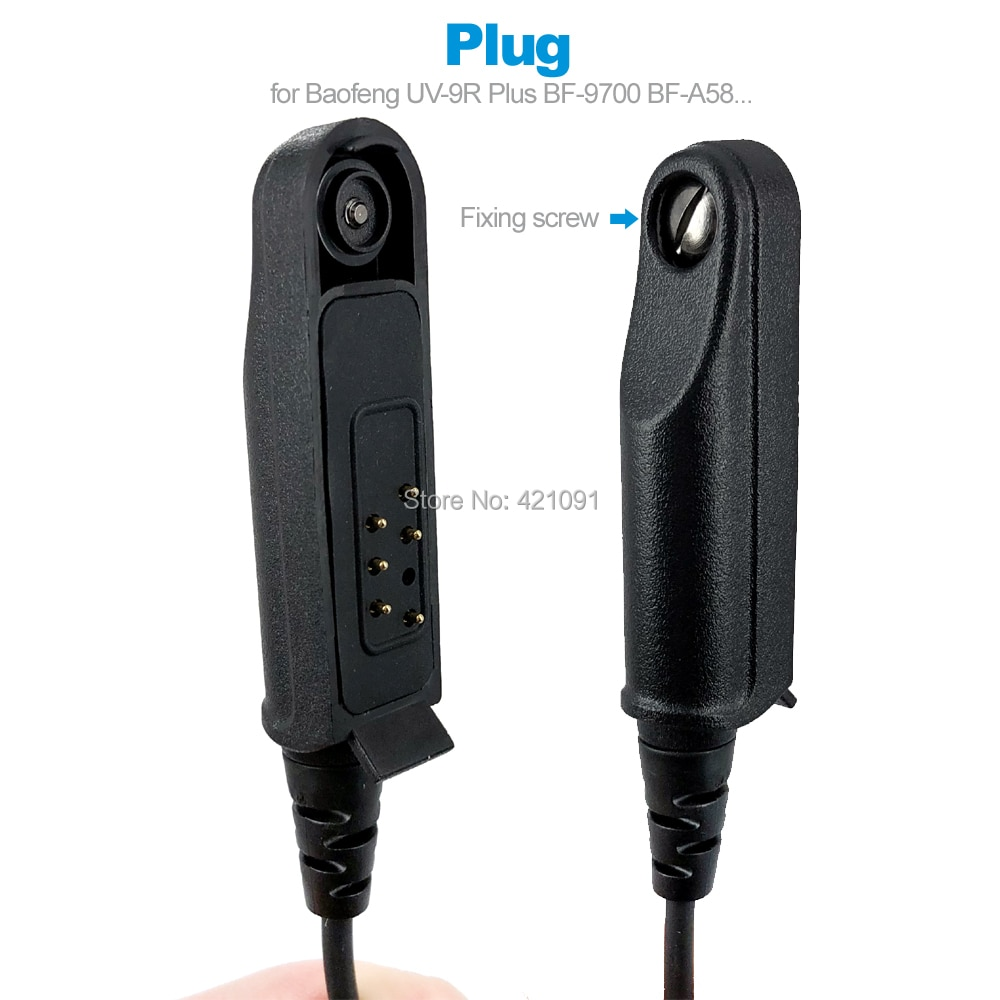 2 Earphone Earpiece Headset Mic for Baofeng UV-9R Plus BF-9700 BF-A58 GT-3WP UV-5S UV-XR Walkie Talkie Two Way Radio Accessories enlarge