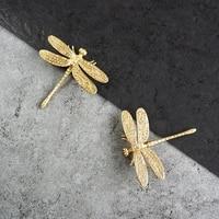 drawer knobs dragonfly shape brass knobs moden golden furniture cupboard pulls dresser wardrobe drawer kitchen cabinet handles